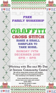 graffiti cross stich poster 14th