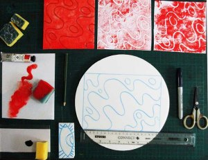 full foam plate printing kit